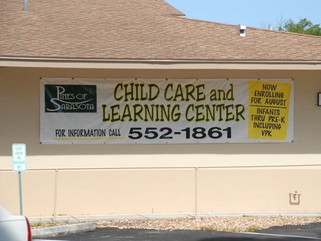 Banner for Pines of Sarasota Child Care and Learning Center. CLICK HERE to return to main portfolio page.