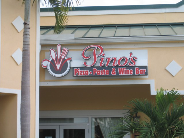 Channel Letters for Pino's Pizza Pasta & Wine Bar. CLICK HERE to return to main portfolio page.