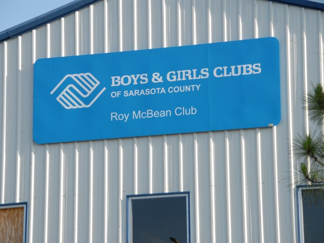 Non-Illuminated Wall Sign for Boys & Girls Clubs of Sarasota County. CLICK HERE to return to main portfolio page.
