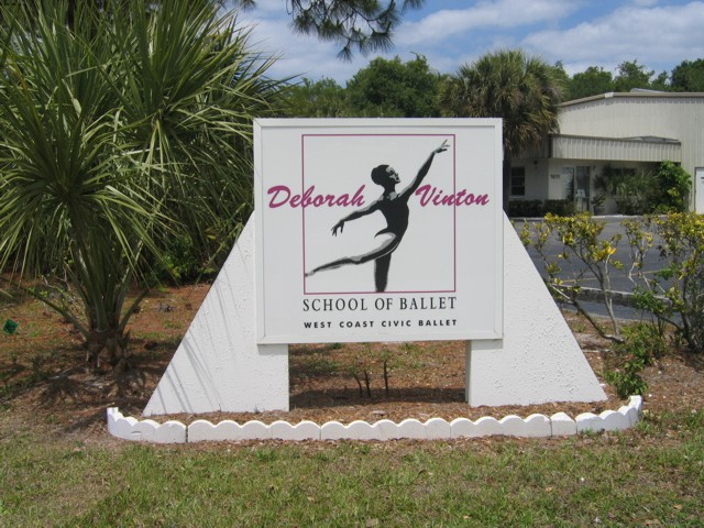 Pylon Sign for Deborah Vinton School of Ballet. CLICK HERE to return to main portfolio page.