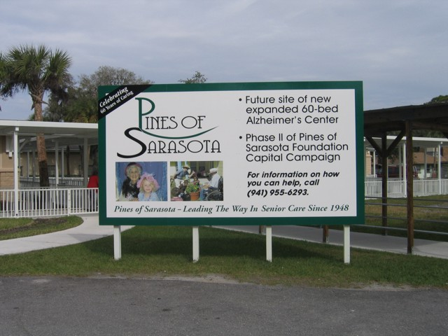 Construction Site Sign for Pines of Sarasota. CLICK HERE to return to main portfolio page.