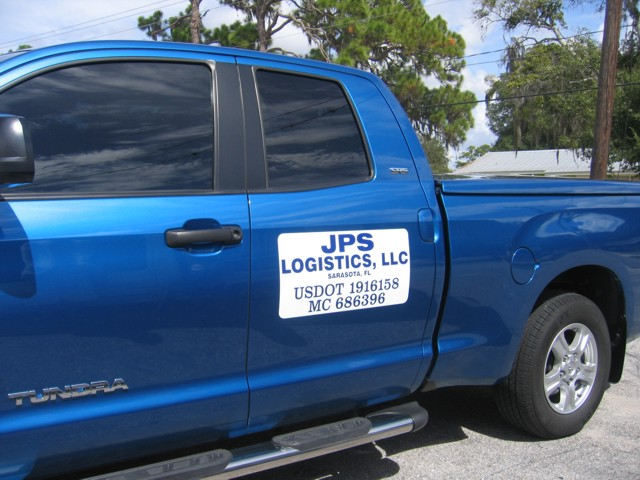 Vehicle Magnets for JPS Logistics LLC. CLICK HERE to return to main portfolio page.