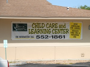 Banner for Pines of Sarasota Child Care and Learning Center. To see more banners like this, CLICK HERE to view the banner section of our Portfolio page.