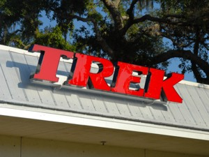 Channel letters for Trek. To see more channel letters like this, CLICK HERE to view the channel letter section of our Portfolio page.