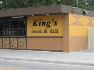 Dimensional letters for King's Meat & Deli. To see more dimensional letters like this, CLICK HERE to view the dimensional letter section of our Portfolio page.