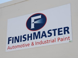 Non-illuminated wall sign for FinishMaster. To see more non-illuminated wall signs like this, CLICK HERE to view the non-illuminated wall sign section of our Portfolio page.