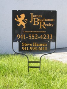 Real estate yard sign for James Buchanan Realty. To see more yard signs like this, CLICK HERE to view the yard sign section of our Portfolio page.