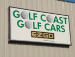 Illuminated Cabinet Sign for Golf Coast Golf Cars. CLICK HERE to see this photo full size.