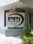 Monument Sign for PPI Technologies. CLICK HERE to see this photo full size.