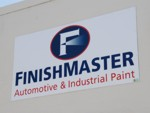 Non-Illuminated Wall Sign for FinishMaster. CLICK HERE to see this photo full size.