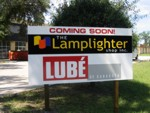 Construction Site Sign for Lamplighter Shop and Lube of Saraosta. CLICK HERE to see this photo full size.