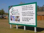 Construction Site Sign for Pines of Sarasota. CLICK HERE to see this photo full size.
