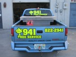 Vehicle lettering & graphics for 941 Tree Service. CLICK HERE to see this photo full size.