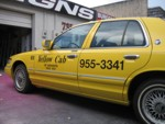 Vehicle lettering for Yellow Cab of Sarasota. CLICK HERE to see this photo full size.