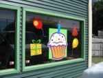 Window Vinyl Lettering & Graphics for Cupcake Cafe. CLICK HERE to see this photo full size.
