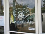 Door Vinyl Lettering & Graphics for Wearable Art. CLICK HERE to see this photo full size.