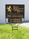 Real Estate Yard Sign for James Buchanan Realty. CLICK HERE to see this photo full size.